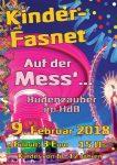 "Kinderfasnet 2018 Plakat ""Mit dem HdB auf der Mess' """
