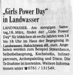 Girls Power Day BZ - 17.3.2006