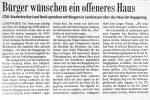 Bürger wünschen ein offeneres Haus- BZ 26.9.2000