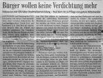 Bürger wollen keine Verdichtung mehr - Badische Zeitung 12.8.1999
