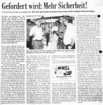 Gefordert wird mehr Sicherheit - Badische Zeitung 14.8.1999