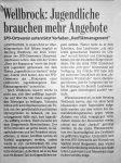Jugendliche brauchen mehr Angebote - Badische Zeitung 12.8.1999