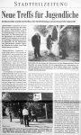 Neue Treffs fuer Jugendliche - Badische Zeitung 14.11.1999