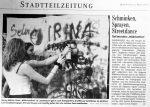 Schminken, Sprayen Streetdance Mädchenfest im HdB- BZ 23.5.2001