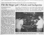 Tischfussball-Stadtmeisterschaft im HdB - Badische Zeitung 27.4.1998