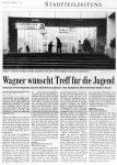 Wagner wünscht Treff für die Jugend - BZ 9.3.2001