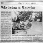 Wilde Spruenge am Moosweiher - BZ 18.6.2002