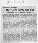 Die Nacht wurde zum Tag - Badische Zeitung 4.12.1991