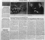 Haus der Begegnung Festakt 20jähriges Bestehen - Badische Zeitung 9.12.1992