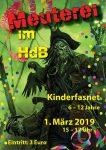 Plakat der Kinderfasnet 2019 im HdB