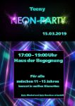 Neon Party Flyer 2019